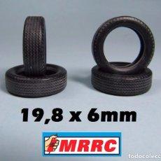 Scalextric: MRRC 4 UNIDADES NEUMATICO 19,8 X 6 MM 1/32 PORSCHE 904 - 911 KELLISON REVELL MONOGRAM. Lote 93842785
