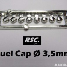 Scalextric: 8 TAPONES COMBUSTIBLE 3,5 MM 1/32 - KIT RESINA - FUEL CAP - TAPON GASOLINA. Lote 175167942