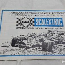 Scalextric: CATALOGO TRAMOS Y PISTA SCALEXTRIC. Lote 95968403