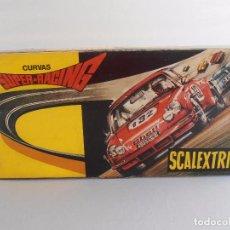 Scalextric: CURVAS SUPER-RACING SCALEXTRIC EXIN, REF 3085, CAJA ORGINAL E INSTRUCCIONES, COMPLETO. Lote 97715411