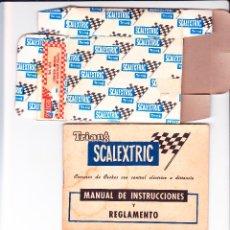 Scalextric: TRIANG SCALEXTRIC, MANUAL DE INSTRUCCIONES, INSTRUCCIONES DE MONTAJE Y CAJA DE CONTROL MANUAL. Lote 102544510