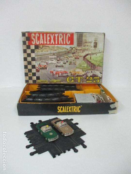 CIRCUITO SCALEXTRIC GT 25 - CON MERCEDEZ 250 SL SPORT - TODO ORIGINAL - AÑO 1968 (Juguetes - Slot Cars - Scalextric Pistas y Accesorios)