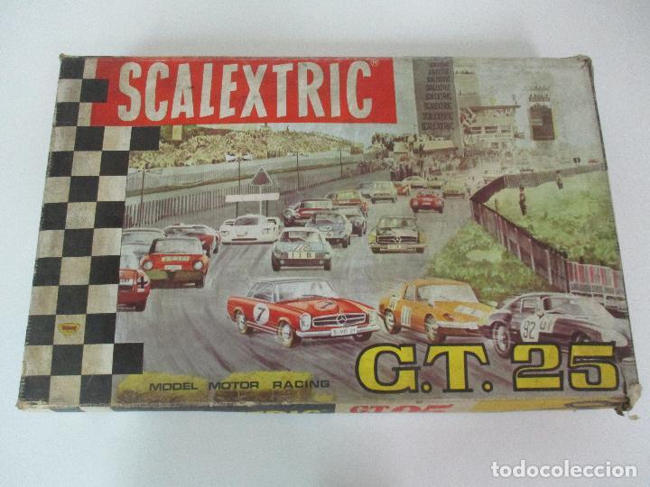 Scalextric: Circuito Scalextric GT 25 - con Mercedez 250 SL Sport - Todo Original - Año 1968 - Foto 3 - 103592015