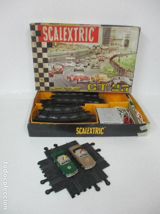 Scalextric: Circuito Scalextric GT 25 - con Mercedez 250 SL Sport - Todo Original - Año 1968 - Foto 4 - 103592015