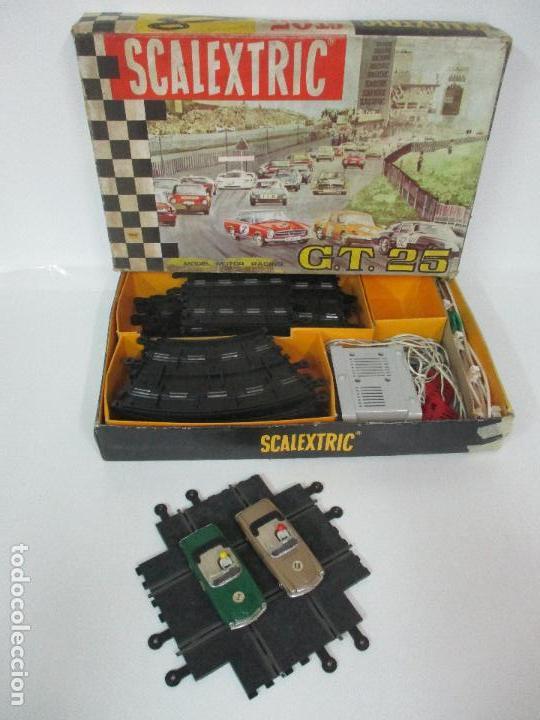 Scalextric: Circuito Scalextric GT 25 - con Mercedez 250 SL Sport - Todo Original - Año 1968 - Foto 24 - 103592015