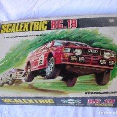 Scalextric: SCALEXTRIC RC-19 , . PISTA CON CONEXIONES ELECTRICAS . COMPLETO .NUEVAS FOTOS .SE ENVIA A EUROPA .. Lote 103793099