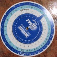 Scalextric: RUEDA TABLA DE VELOCIDADES SCALEXTRIC TVS , . JUEGO GRAN CHICANE . CIRCULO 1 4 CM . Lote 103884855