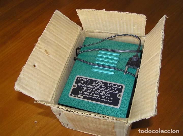 Scalextric: ANTIGUO TRANSFORMADOR RECTIFICADOR EXINSA EXIN 125 ó 220 Voltios PARA SCALEXTRIC CON SU CAJA AÑOS 60 - Foto 2 - 104018335