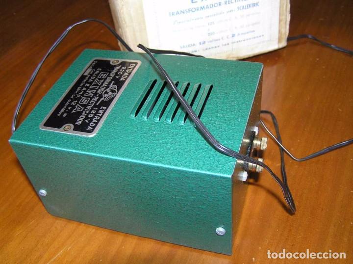 Scalextric: ANTIGUO TRANSFORMADOR RECTIFICADOR EXINSA EXIN 125 ó 220 Voltios PARA SCALEXTRIC CON SU CAJA AÑOS 60 - Foto 6 - 104018335