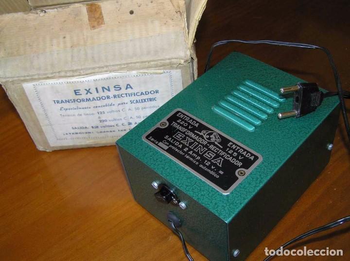 Scalextric: ANTIGUO TRANSFORMADOR RECTIFICADOR EXINSA EXIN 125 ó 220 Voltios PARA SCALEXTRIC CON SU CAJA AÑOS 60 - Foto 9 - 104018335