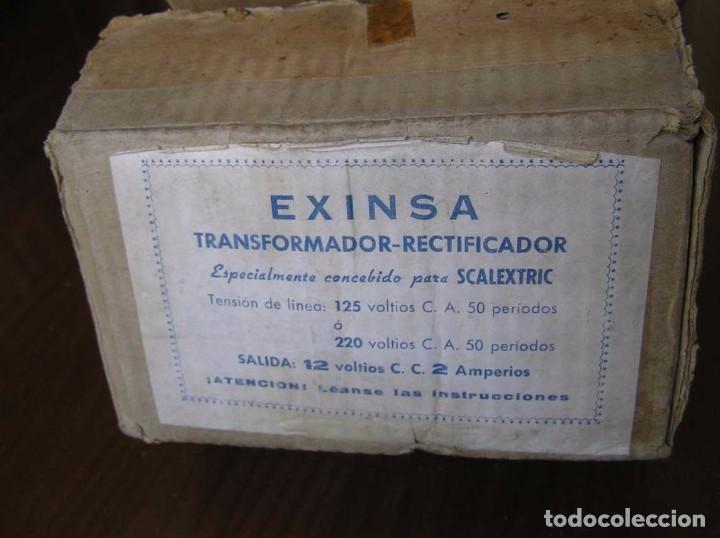 Scalextric: ANTIGUO TRANSFORMADOR RECTIFICADOR EXINSA EXIN 125 ó 220 Voltios PARA SCALEXTRIC CON SU CAJA AÑOS 60 - Foto 15 - 104018335