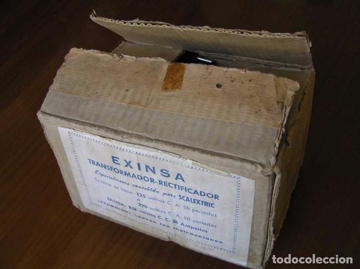 Scalextric: ANTIGUO TRANSFORMADOR RECTIFICADOR EXINSA EXIN 125 ó 220 Voltios PARA SCALEXTRIC CON SU CAJA AÑOS 60 - Foto 16 - 104018335