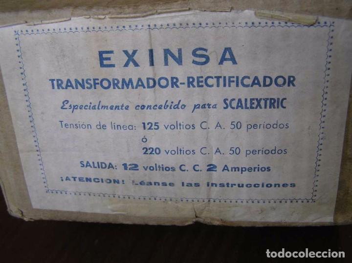 Scalextric: ANTIGUO TRANSFORMADOR RECTIFICADOR EXINSA EXIN 125 ó 220 Voltios PARA SCALEXTRIC CON SU CAJA AÑOS 60 - Foto 20 - 104018335