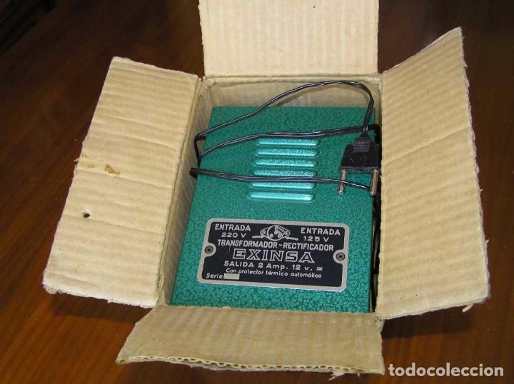 Scalextric: ANTIGUO TRANSFORMADOR RECTIFICADOR EXINSA EXIN 125 ó 220 Voltios PARA SCALEXTRIC CON SU CAJA AÑOS 60 - Foto 21 - 104018335
