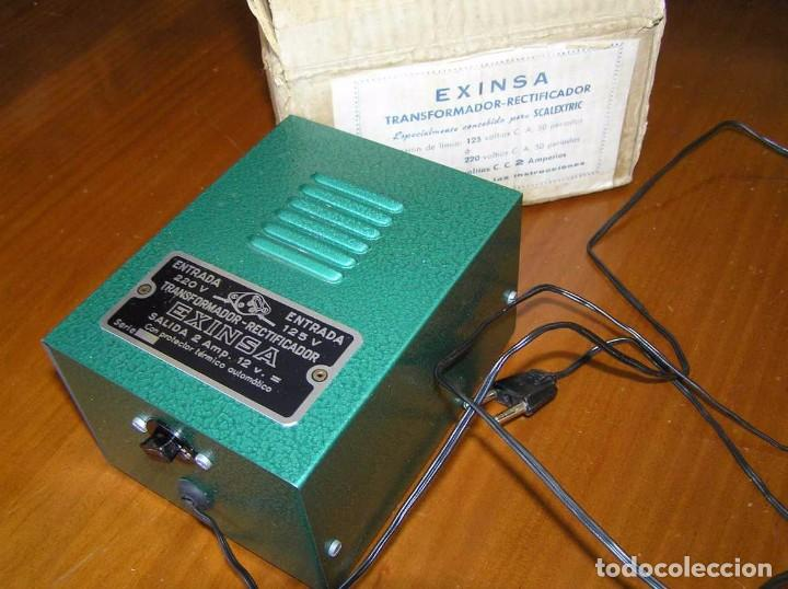 Scalextric: ANTIGUO TRANSFORMADOR RECTIFICADOR EXINSA EXIN 125 ó 220 Voltios PARA SCALEXTRIC CON SU CAJA AÑOS 60 - Foto 24 - 104018335