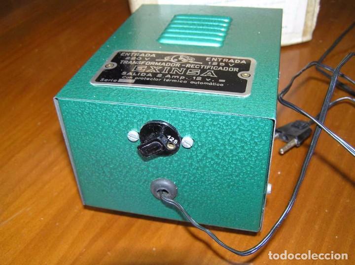 Scalextric: ANTIGUO TRANSFORMADOR RECTIFICADOR EXINSA EXIN 125 ó 220 Voltios PARA SCALEXTRIC CON SU CAJA AÑOS 60 - Foto 25 - 104018335