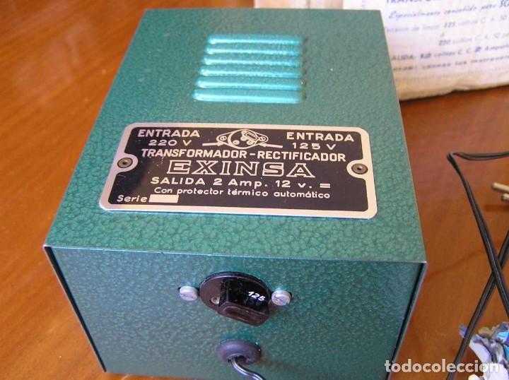 Scalextric: ANTIGUO TRANSFORMADOR RECTIFICADOR EXINSA EXIN 125 ó 220 Voltios PARA SCALEXTRIC CON SU CAJA AÑOS 60 - Foto 30 - 104018335