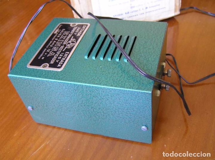 Scalextric: ANTIGUO TRANSFORMADOR RECTIFICADOR EXINSA EXIN 125 ó 220 Voltios PARA SCALEXTRIC CON SU CAJA AÑOS 60 - Foto 33 - 104018335