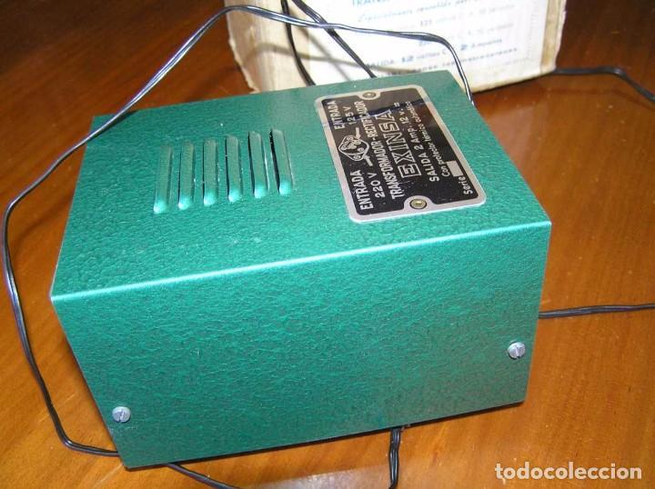 Scalextric: ANTIGUO TRANSFORMADOR RECTIFICADOR EXINSA EXIN 125 ó 220 Voltios PARA SCALEXTRIC CON SU CAJA AÑOS 60 - Foto 35 - 104018335