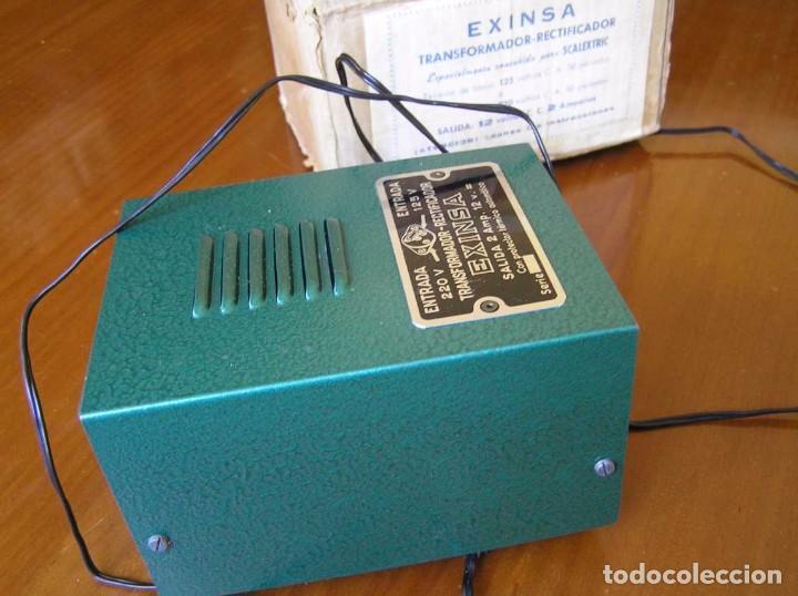 Scalextric: ANTIGUO TRANSFORMADOR RECTIFICADOR EXINSA EXIN 125 ó 220 Voltios PARA SCALEXTRIC CON SU CAJA AÑOS 60 - Foto 36 - 104018335