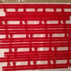 Scalextric: LOTE DE 10 VALLAS ROJAS DOBLES SCALEXTRIC...SLOT. Lote 104349983