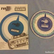 Scalextric: TVS TABLA DE VELOCIDADES Y DISCO DE SCALEXTRIC EXIN MUY BUEN ESTADO ORIGINAL. Lote 104467851