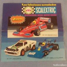 Scalextric: CATALOGO PUBLICITARIO LAS FABULOSAS NOVEDADES DE SCALEXTRIC EXIN EN BUEN ESTADO ORIGINAL. Lote 104469247