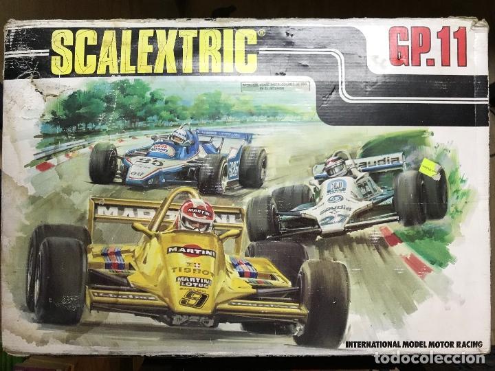 SCALEXTRIC GP.11 CON DOS COCHES, PISTA Y TRANSFOTMADOR (Juguetes - Slot Cars - Scalextric Pistas y Accesorios)