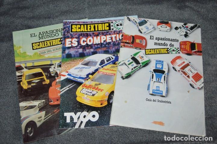 Scalextric: LOTE GIGANTE DE PAPELES / DOCUMENTACIÓN SCALEXTRIC - EXIN - TYCO - TECNITOYS - HAZ OFERTA - VINTAGE - Foto 10 - 107526983