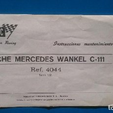 Scalextric: INSTRUCCIONES MERCEDES WANKEL SCALEXTRIC. Lote 108300707
