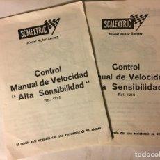 Scalextric: SCALEXTRIC AÑOS 70 DE EXIN 2 CATALOGOS CONTROL MANUAL DE VELOCIDAD ALTA SENSIBILIDAD. Lote 109152475