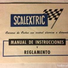 Scalextric: SCALEXTRIC AÑOS 70 DE EXIN MANUAL INSTRUCCIONES Y REGLAMENTO. Lote 109152939