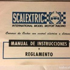 Scalextric: SCALEXTRIC AÑOS 70 DE EXIN MANUAL INSTRUCCIONES Y REGLAMENTO. Lote 109153775