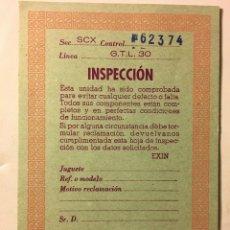 Scalextric: SCALEXTRIC AÑOS 70 DE EXIN CARTULINA COCHE GTL 30. Lote 109153971