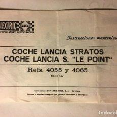 Scalextric: SCALEXTRIC AÑOS 70 DE EXIN COCHE LANCIA STRATOS LE POINT. Lote 109154027