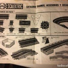 Scalextric: SCALEXTRIC AÑOS 70 DE EXIN CATALOGO TRAMOS ACCESORIOS. Lote 109154283