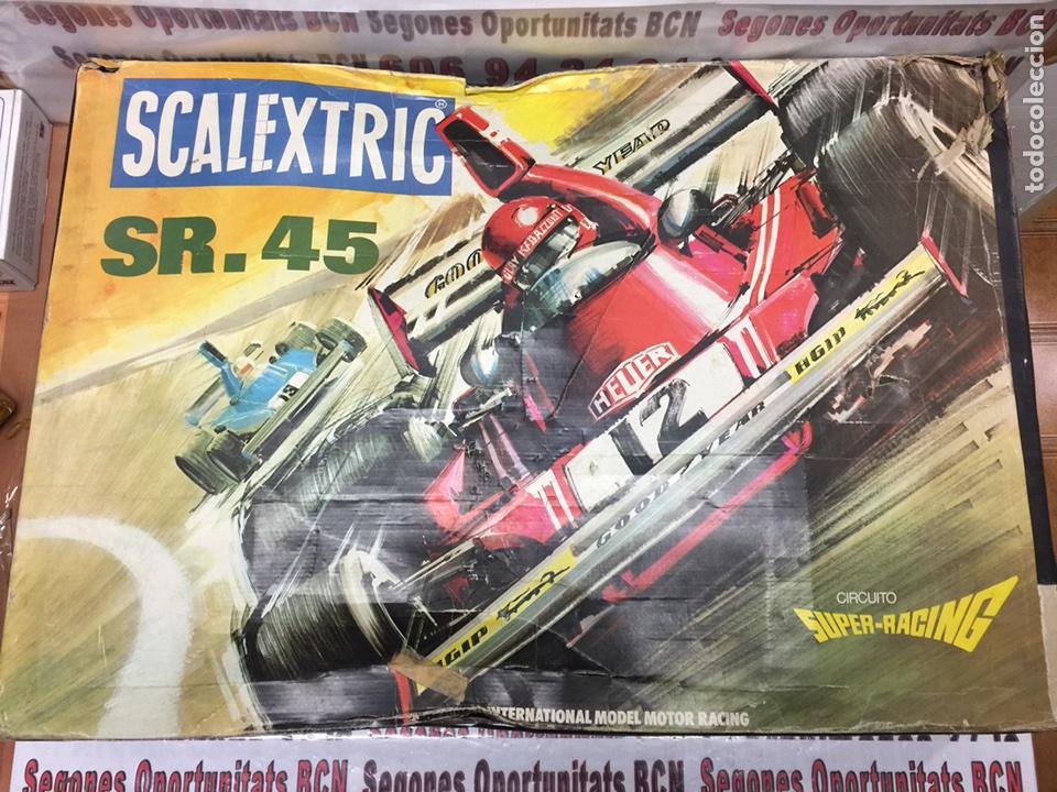 SCALEXTRIC SR-45 COMPLETO CON UN COCHE (Juguetes - Slot Cars - Scalextric Pistas y Accesorios)