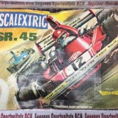 Scalextric: SCALEXTRIC SR-45 COMPLETO CON UN COCHE. Lote 109438208