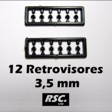 Scalextric: 12 RETROVISORES COCHES SLOT 3,5 MM 1/32 - KIT RESINA - RETROVISOR. Lote 116223900
