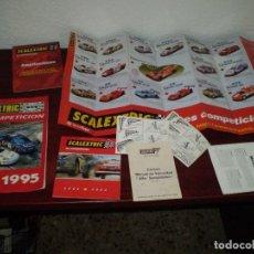 Scalextric: SCALEXTRIC -CATALOGOS COCHES AMPLIACIONES 1995 Y OTRAS DOCUMENTACIONES. Lote 113931323