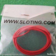 Scalextric: CABLE ELECTRICO DE SILICONA LIBRE DE OXIGENO (OFC) NARANJA – SLOTING PLUS. Lote 116209971
