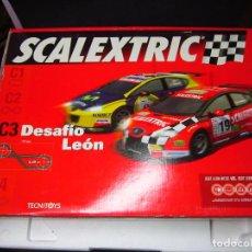 Scalextric: CAJA VACIA CIRCUITO DESAFIO LEON SCALEXTRIC. Lote 117780415