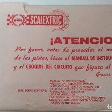 Scalextric: SCALEXTRIC SOBRE DOCUMENTACION DEL CIRCUITO GP 29. Lote 121338523