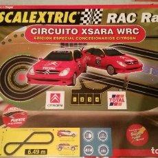 Scalextric: SCALEXTRIC RAC RALLY. CIRCUITO XSARA WRC. EDICIÓN LIMITADA CONCESIONARIOS CITROËN. VERSIÓN 2001.. Lote 121723259