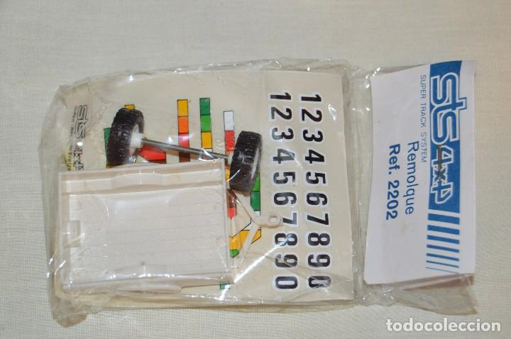 Scalextric: Vintage - BLISTER PRECINTADO NOS - REMOLQUE STS 4X4 SCALEXTRIC - REF. 2202 - BLANCO - MADE IN SPAIN - Foto 3 - 121726019