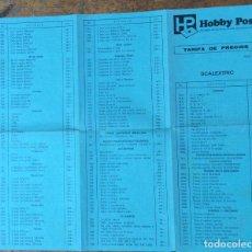 Scalextric: SCALEXTRIC, TARIFA DE PRECIOS, ABRIL 1978. Lote 122972095
