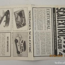 Scalextric: SCALEXTRIC CLUB 4 NOVEDADES 1970. Lote 124594635