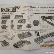 Scalextric: SCALEXTRIC EXIN DOCUMENTACION HOJA CATALOGO TRAMOS Y ACCESORIOS 3ª EDICION . Lote 124598239
