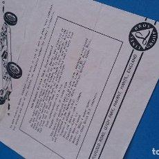 Scalextric: INSTRUCCIONES MANTENIMIENTO BENTLEY. Lote 126629495