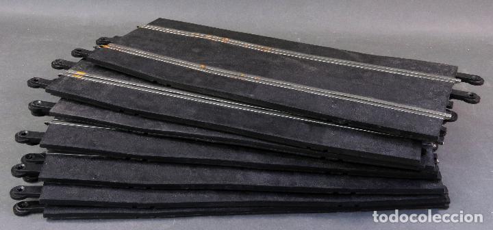 Scalextric: 7 tramos pistas rectas Scalextric Exin Triang años 70 - Foto 2 - 128896523